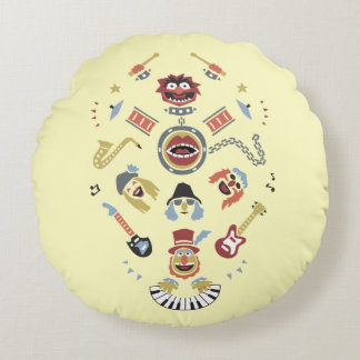 The Muppets Electric Mayhem Iconic Shape Graphic Round Pillow