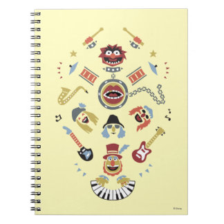 The Muppets Electric Mayhem Iconic Shape Graphic Spiral Notebook