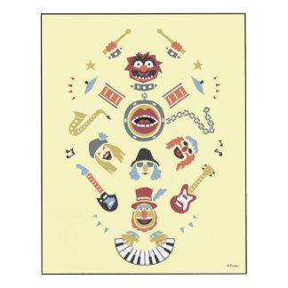 The Muppets Electric Mayhem Iconic Shape Graphic Wood Print