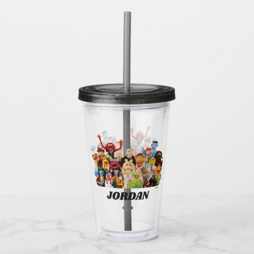 The Muppets Gang   Add Your Name Acrylic Tumbler