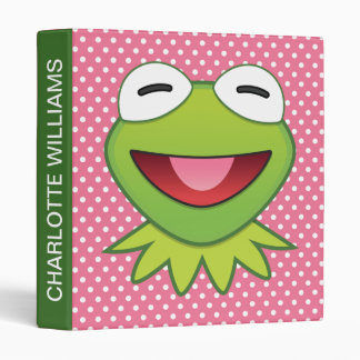 The Muppets| Kermit The Frog Emoji 3 Ring Binder