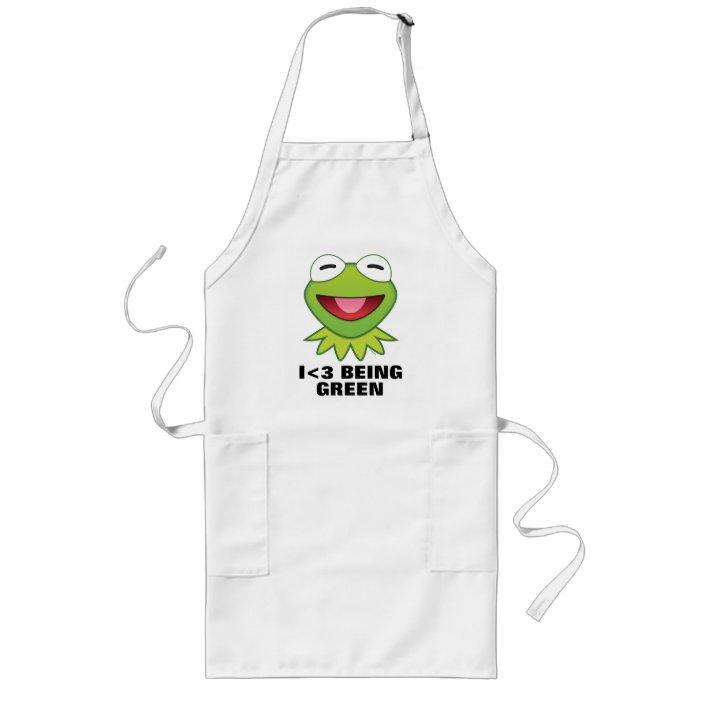 The Muppets Kermit Frog Emoji Long Apron Zazzle Com
