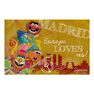 The Muppets - Madrid, Spain Poster
