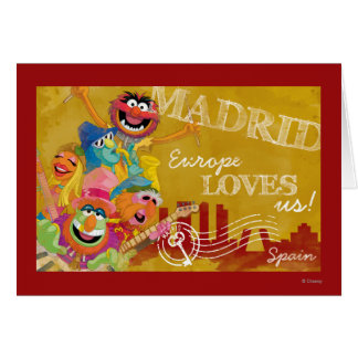 The Muppets - Madrid, Spain Poster Greeting Card
