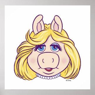 The Muppets Miss Piggy Face Disney print