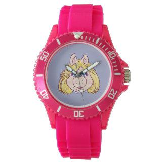 The Muppets Miss Piggy Face Disney Watch