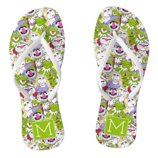 The Muppets | Monogram Oversized Pattern Flip Flops