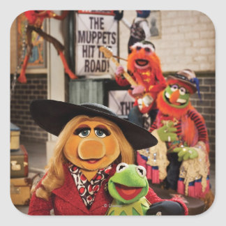 The Muppets Most Wanted Hits the Road! Square Sticker