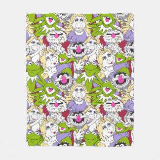 The Muppets   Oversized Pattern Fleece Blanket