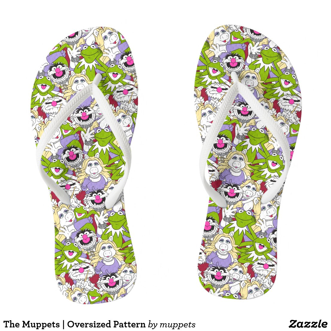 The Muppets | Oversized Pattern Flip Flops