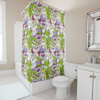 the muppets oversized pattern shower curtain