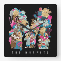The Muppets | The Muppets Monogram Square Wall Clock