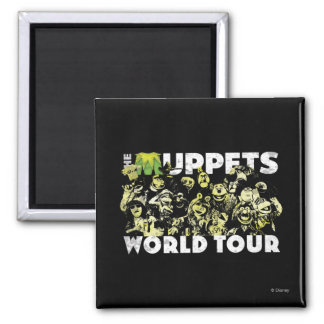 The Muppets World Tour 2 Inch Square Magnet