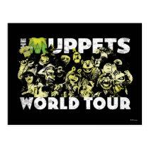 The Muppets World Tour Postcard