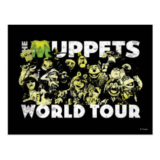 The Muppets World Tour Postcard