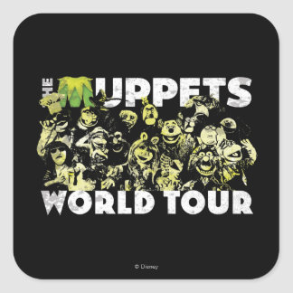 The Muppets World Tour Square Sticker