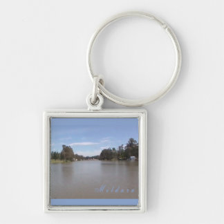 The Murray Silver-Colored Square Keychain