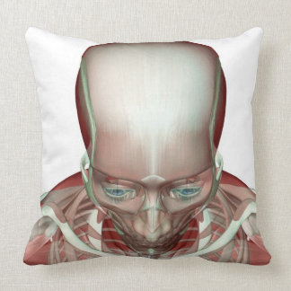 The Musculoskeletan of the Head and Neck 2 Throw Pillow