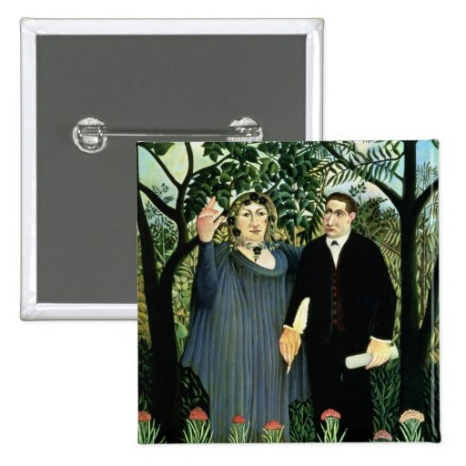 The Muse Inspiring the Poet, 1908-09 2 Inch Square Button