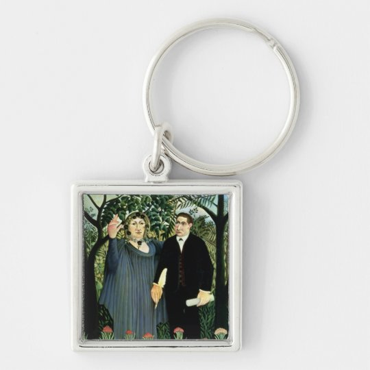 The Muse Inspiring the Poet, 1908-09 Keychain