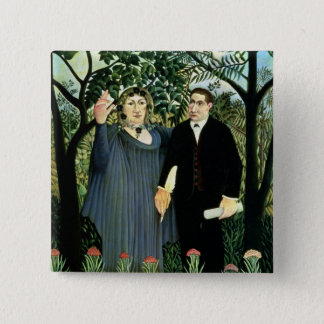 The Muse Inspiring the Poet, 1908-09 Pinback Button