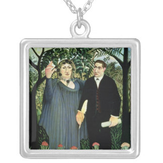 The Muse Inspiring the Poet, 1908-09 Silver Plated Necklace