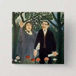 The Muse Inspiring the Poet, 1909 Pinback Button