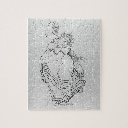The Muse of Dance, Plate VI from a new edition con Jigsaw Puzzle