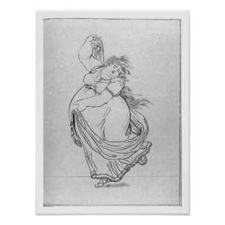 The Muse of Dance, Plate VI from a new edition con Poster