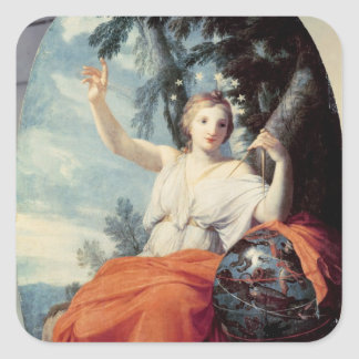 The Muse Urania, 1646-47 Square Sticker