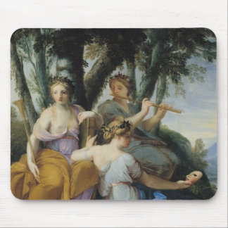 The Muses, Clio, Euterpe and Thalia, c.1652-55 Mouse Pad
