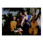 The Muses Melpomene, Erato and Polymnia, 1652-55 Greeting Card