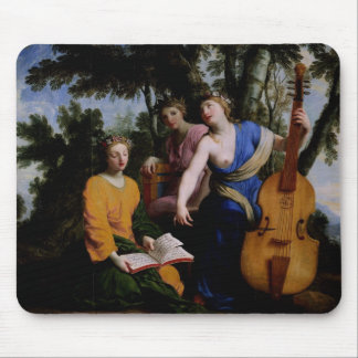 The Muses Melpomene, Erato and Polymnia, 1652-55 Mouse Pad