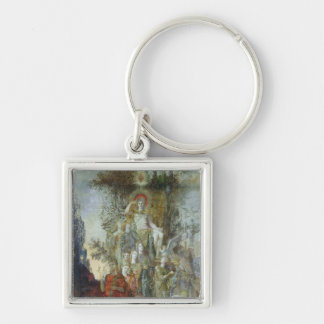 The Muses Silver-Colored Square Keychain