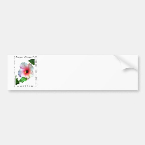 The MUSEUM Artist Series by jGibney  Hibiscus1 Car Bumper Sticker