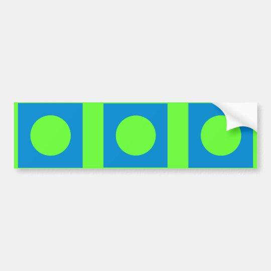The MUSEUM Artist Series CyanHexacromecSqCircleTra Bumper Sticker