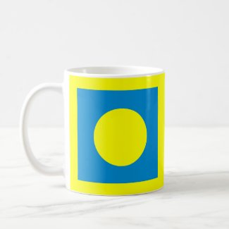 The MUSEUM Artist Series CyanHexacromecSqCircleTra mug