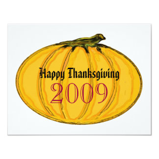 """The MUSEUM Artist Series Happy Thanksgiving, 2009 4.25"""" X 5.5"""" Invitation Card"""