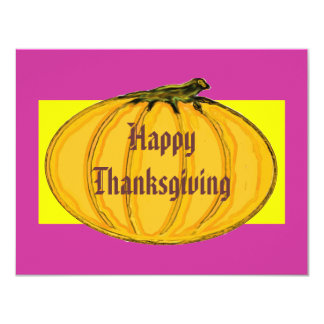 """The MUSEUM Artist Series Happy Thanksgiving 2 yw 4.25"""" X 5.5"""" Invitation Card"""