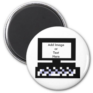 The MUSEUM Artist Series Images Computer Bk 2 Inch Round Magnet