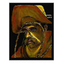The MUSEUM Artist Series jGibney Cowboy with Rope print
