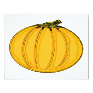 "The MUSEUM Artist Series jGibney Pumpkin7tc100 4.25"" X 5.5"" Invitation Card"