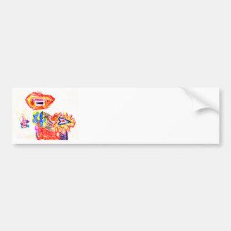 The MUSEUM Artist Series Kaitlyn's Sun and Flower1 Bumper Sticker