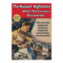 The Museum Nightmare - Pulp Poster