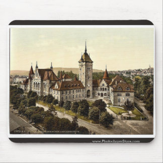 The museum, Zurich, Switzerland vintage Photochrom Mouse Pad
