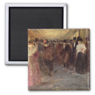 The Music Hall, c.1890 2 Inch Square Magnet