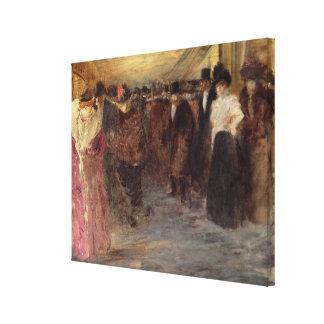 The Music Hall, c.1890 Canvas Print