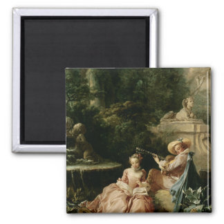 The Music Lesson, 1749 2 Inch Square Magnet
