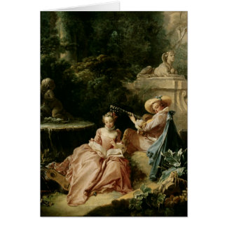The Music Lesson, 1749 Card