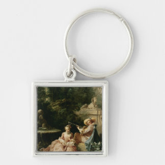 The Music Lesson, 1749 Keychain